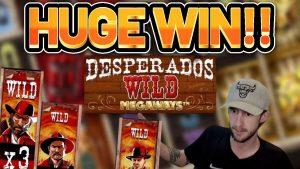 HUGE WIN!! DESPERADOS WILD MEGAWAYS large WIN –  casino bonus slot from Casinodaddy LIVE flow