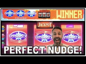 ⭐ I GOT THE PERFECT NUDGE ON CRYSTAL STAR!! ⭐ Slot machine large Wins together with live play!
