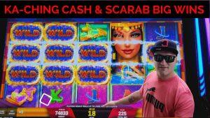 💥KA-CHING CASH BONUS LIVE PLAY SCARAB velký VÝHRY kasino bonus SLOTY💥