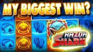 MY BIGGEST EVER WIN on RAZOR SHARK ! (insane!!!)
