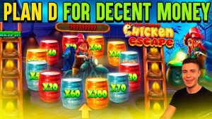 NICE BONUS ON THE GREAT CHICKEN ESCAPE | large WIN ON PRAGMATIC PLAY ONLINE SLOT MACHINE