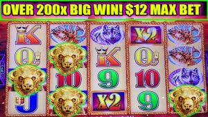 OVER 200x large WIN! BUFFALO Au COLLECTION DOUBLE JACKPOT! $12 MAX BET BONUS