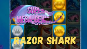 Online casino bonus Deutsch Slots RAZOR SHARK large WIN