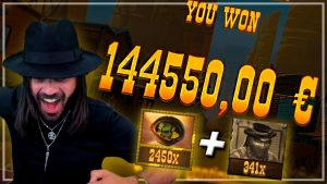 Roshtein novel HUGE WIN 144k€ Money educate \ Top 5 Wins inwards Bonus Hunt