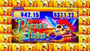 **💰SUPER large WIN!💰** 7 BONUSES! Pirate Ship *WMS* Slot Machine!
