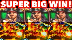 **SUPER large WIN!** RETRIGGER! Pirate Ship *WMS* Slot Machine Bonus Wins!