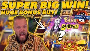 PUNK ROCKER BONUS購入でSUPERラージウィン! €6.100ご購入でお支払いが狂ってしまいました! オンラインスロットで大勝利!