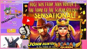 Sick Bonus!! Huge Win From John Hunter & The Tomb Of The Scarab Queen!!
