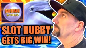 Slot Hubby goes WILD !! large BETS & AMAZING WINS ! HE WAS 50-50 belatedly TO DINNER !