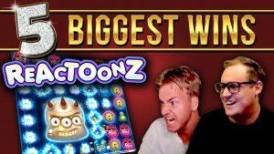 Top 5 BIGGEST WINS on Reactoonz