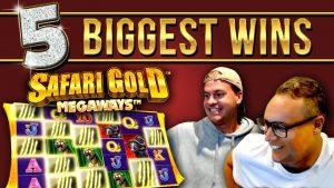 Top 5 BIGGEST WINS on Safari Au Megaways