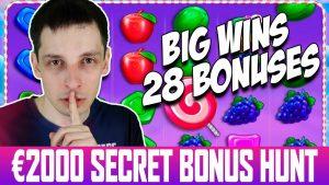 large SECRET BONUS HUNT ticker Bonus Opening Results too large Wins