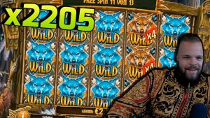 large WIN x2205 on COYWOLF CASH (Play'n GO) – casino bonus Slots large Wins