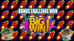 large WINS! WHEN YOUR ON A HOT ROLL BONUS CHALLENGE WON