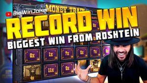 tape WIN! BIGGEST WIN inward  SLOT MONEY develop FROM ROSHTEIN!