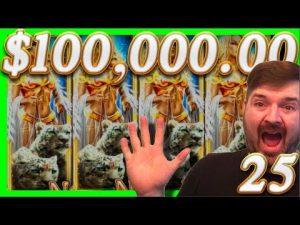 $100,000.00 inwards 1/2 casino bonus Slot Machine WINS!💰25💰large Winning W/ SDGuy1234