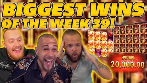 BIGGEST WINS OF THE calendar week 38! INSANE large WINS on Online Slots! TWITCH HIGHLIGHTS!
