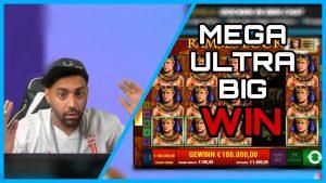 200.000 100 € MEGA ULTRA large WIN R - RAMSES XNUMXK BILD 😍🤑- KOMPLETTER flow - Al Gear Twitch Highlights