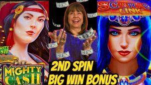2nd SPIN large WIN BONUS! Scarab Link too Rising Jackpots Pompeii Bonuses.