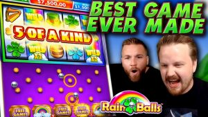 BEST Slot Machine ever made?! (pelting Balls large Win)