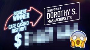 Cafe casino bonus – BIGGEST WIN inwards HISTORY!