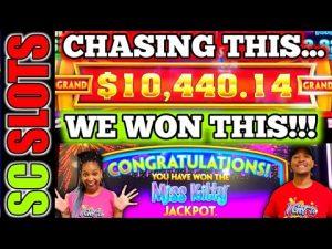GRAND Chase Leads To large Win Jackpot On Wonder 4 MISS KITTY Slot Machine!