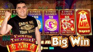 HIGH bound Endless Treasure Slot Machine Bonuses & large WIN- Fantastic Comeback   SE-4   EP-7