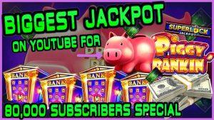 HIGH bound Lock It Link Piggy Bankin' MASSIVE HANDPAY JACKPOT 🔒BIGGEST JACKPOT ON YOUTUBE FOR PIGGY