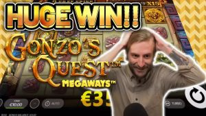 HUGE WIN! GONZOS QUEST MEGAWAYS large WIN –  Online Slots from Casinodaddy LIVE flow