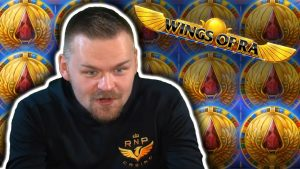 HUGE large WIN on WINGS OF RA – casino bonus Slots large Wins