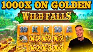 INSANE 1000X GOLDEN CHEST BONUS ON WILD FALLS | HUGE WIN ON PLAY N GO ONLINE SLOT MACHINE