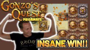 INSANE WIN! GONZOS QUEST MEGAWAYS large WIN –  casino bonus Slots from Casinodaddy LIVE current