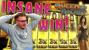 INSANE WIN на слот Queen of Riches - £ 10 Залог!