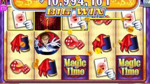 """MAGIC TIME Video Slot kasiino boonusmäng, millel on """"suur WIN"""" lahtine SPIN BONUS"""