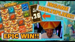 MASSIVE TIKI TUMBLE MULTIPLIER!! MEGA large WIN!!