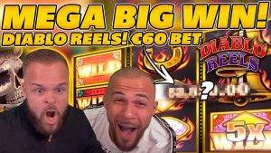 MEGA INSANE suuri voitto DIABLO-KELOILLA! Hullu KORKEA VETO! suuri WIN online-kolikkopeleissä!