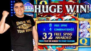 Mesin Slot River Dragons MENANG BESAR | Bonus Taruhan Maksimal Mesin Slot Flame Link | Putar Slot Langsung