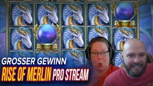 SLOT ascension OF MERLIN MEGA WIN inward casino bonus / STREAMERS BIGGEST WINS