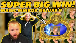 SUPER large WIN on MAGIC MIRROR DELUXE II! BEST SYMBOL RETRIGGER! large WIN on Online Slots!