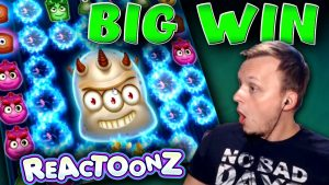 SUPER large WIN on Reactoonz – €10 Bet!