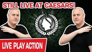 🔴 Nog steeds live op de LAS VEGAS STRIP ✨ Caesars Palace Slots = INSANITY