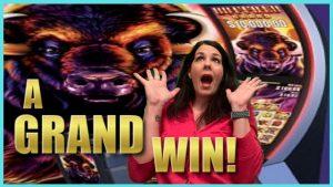 """WOW koks didelis laimėjo! """"Buffalo Grand Slot 48"""" sukasi milžinišką laimėjimą! * kazino premijos grafienė"""