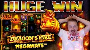 Winning HUGE on Dragon's flame Megaways!