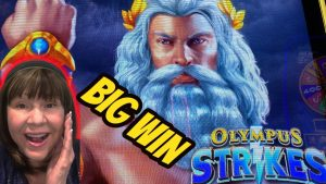 ZEUS GETS FRISKY ON OLYMPUS STRIKES-large WIN BONUS