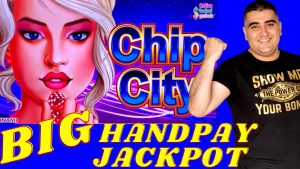 Jackpot Handpay besar di sempadan tinggi Mesin slot Pusat bandar Konami CHIP | Slot Play sempadan tinggi & Kemenangan besar