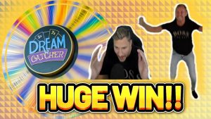 large WIN! DREAM CATCHER large WIN – casino bonus game present from Casinodaddy LIVE current
