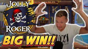 вялікі WIN! JOLLY ROGER 2 large WIN - бонусныя слоты казіно ад Casinodaddy LIVE