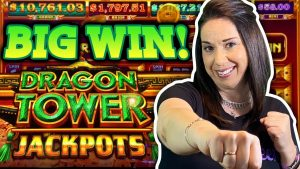 large WIN as we climb the JACKPOT TOWER! Dragon comes JUST inward TIME !!