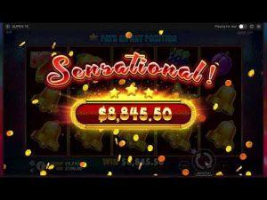 gran ganancia en la ranura de Super 7 en el bono del casino BitStarz