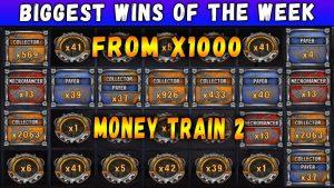 novel biggest wins inward Money develop 2 slot. Streamers biggest wins of the calendar week!